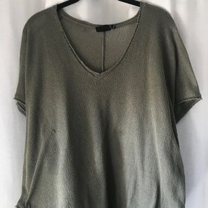 Out from Under Green V-Neck